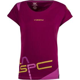 La Sportiva Shortener T-shirt Dam plum